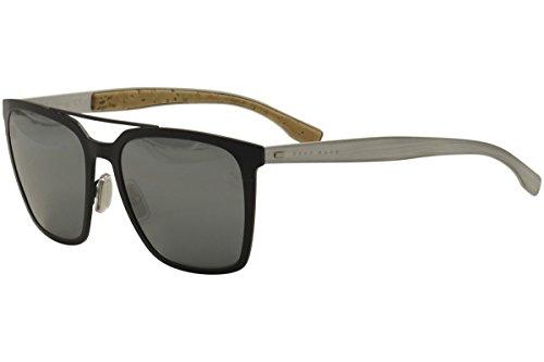 Hugo Boss Mens 0905/F/S Sunglasses Matte Blue/Black Mirror One - Sunglasses F&s
