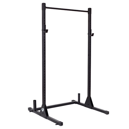 Goplus Adjustable Lifting Rack Squat Dumbbell Barbell Free Bench Deadlift Curl Strength Power Pull Up Weight Stand by Goplus