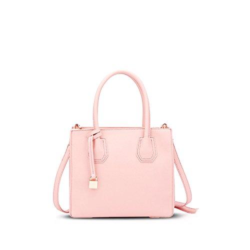 NICOLE&DORIS Tote Handbag Crossbody Shoulder Bag Women Messenger Bag Purse PU Leather Pink