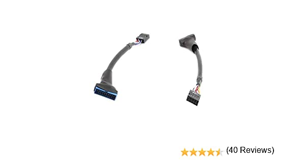 USB 3.0 19PIN to USB 2.0 9PIN Cable Adapter