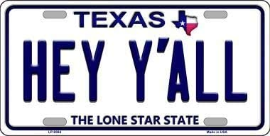 with Sticky Notes Lone Star Texas Background Novelty Metal License Plate