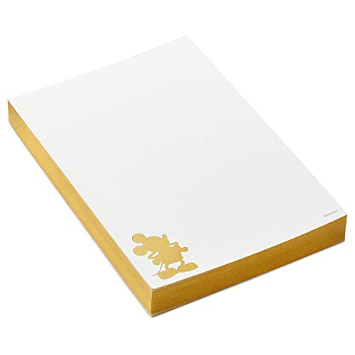 Hallmark Signature Disney Notepad (Gold Mickey Mouse Silhouette)