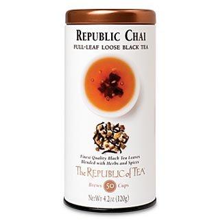 The Republic Of Tea Republic Chai Full-Leaf Black Tea, 4.2 Ounces / 50-60 Cups (Refill Bag) by The Republic of Tea