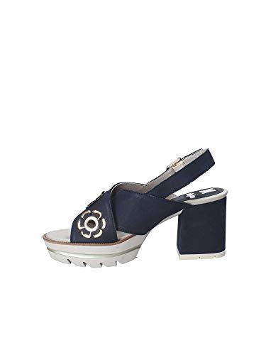 Sandalo Alto Callaghan Tacco Blu 22600 Donna Scarpe 7xHqqz8