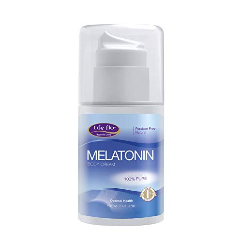 - Life-Flo Melatonin Body Cream, Fragrance-Free, 2oz