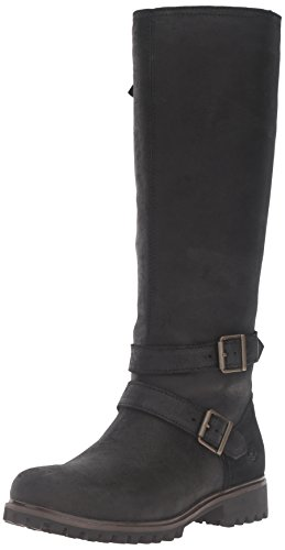 (Timberland Women's Wheelwright Tall Medium Shaft WP Engineer Boot, Jet Black Frontier, 7 M US)