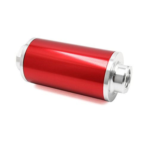 Sourcingmap Universal Car Red Engine Petrol Diesel Gas Inline Fuel Filters AN6 AN8 AN10: