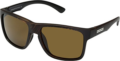 Suncloud Rambler Sunglasses, Blackened Tortoise Frame/Brown Polycarbonate Lens, One Size