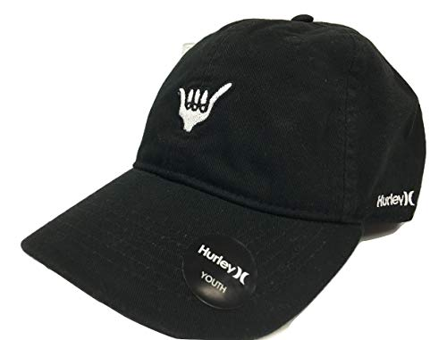 Hurley Boy's Kid's Hang Loose Strapback Hat Cap, Black, One-Size (Hat Embroidered Hurley)