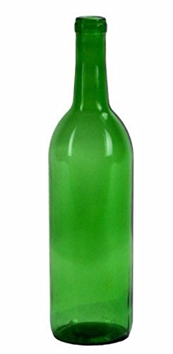 750 ml Emerald Green Claret/Bordeaux Bottles, 12 per case (Red 750ml)