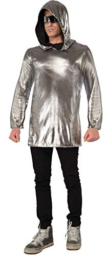 Forum Unisex-Adult's Futuristic Fantasy Hoodie, Silver, One