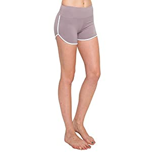 ALWAYS Women Workout Yoga Shorts – Premium Buttery Soft Stretch Cheerleader Running Dance Volleyball Short Pants with Stripes