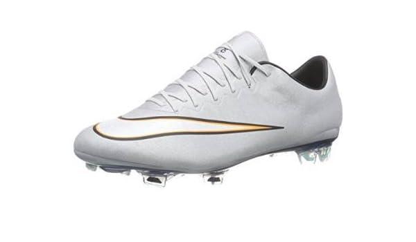 Nike Mercurial Vapor X CR FG Zapatos de Fútbol Hombre, Hombre, MTLLC SLVR/White-HYPR TRQ-BRGH, 46: Amazon.es: Deportes y aire libre