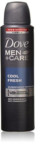 Dove Men + Care Dry Spray Antiperspirant, Cool Fresh 3.80 oz (Pack of 4)