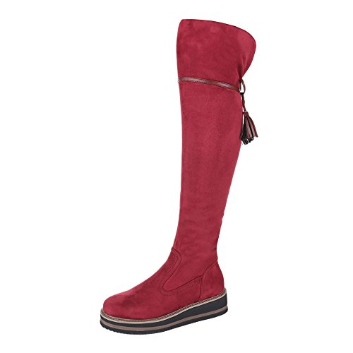 Ital-Design Women's Classic Boot Red AdIxQ