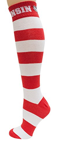 - Donegal Bay NCAA Wisconsin Badgers Unisex Wisconsin Striped Dress Sockwisconsin Striped Dress Sock, Red, One Size