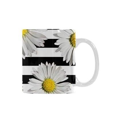 Amazon.com | Best Gift Mug - Abstract White Daisy Daisies ...