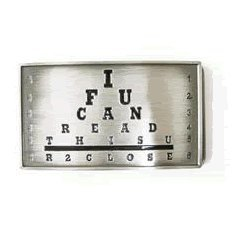 If You Can Read This Belt Buckle