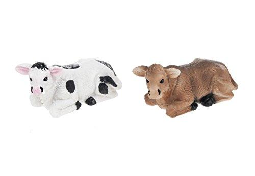 Black & White Cow Figurine - 5
