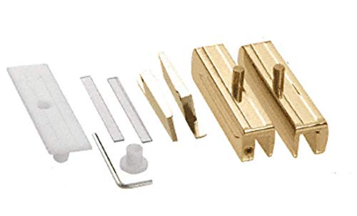 - CRL Brass Madrid Series Hinge Kit for 3/8