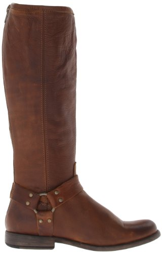 76850 Phillip Tall Boot Leather Vintage Soft FRYE Harness Women's Cognac p6q5wn4zx