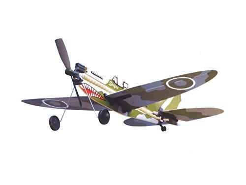 LYONAEEC Flyable Historic Rubber Band Toy Model Plane Spitfire
