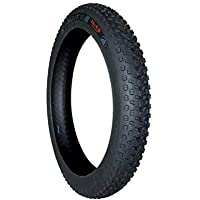 FASTPED® Rubber Fatbike Tyre for Fat Bike (Black, 26x4 inches)