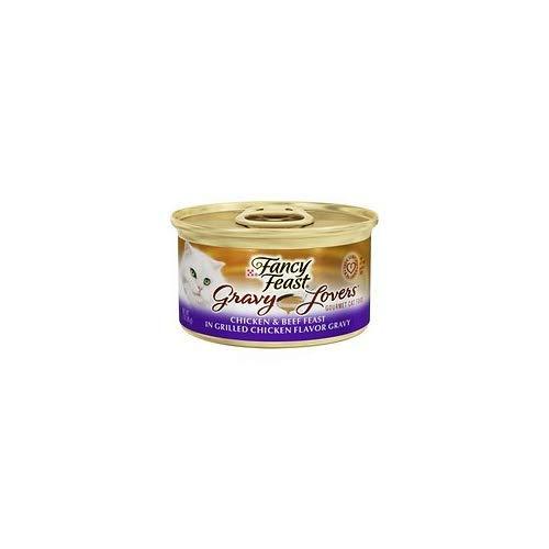 Fancy Feast Gravy Lovers Chicken & Beef Feast in Grilled Chicken Flavor Gravy Cat Food, 3 oz, 12 Cans
