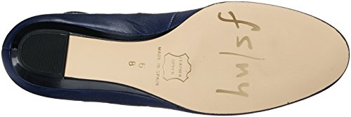 French Calf Sole Navy Women's Soft Pump Wheel FS Wedge Patent NY rpwzxnRrgq