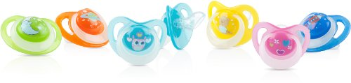 DDI 2-Pack 6 months + Ortho Pacifiers with Glow in the Dark Handle and Printed Knob Case Pack 24