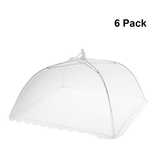 - BESTOMZ 6pcs Pop Up Mesh Screen Food Cover Tent,17 Inches Reusable and Collapsible Outdoor Food Cover,Food Protector Tent Keep Out Flies, Bugs, Mosquitoes