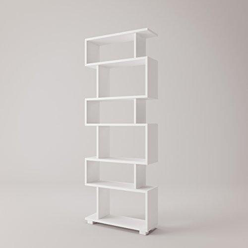 Bates Modern Bookcase 24'' x 63'' x 8'' / Shelving Unit / Bookshelf (24' Wide Unit)