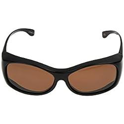 Solar Shield Raquel Polarized Round Sunglasses ,Tortoise,54 mm