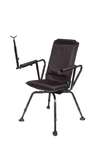Benchmaster - Shooting & Hunting  Chair - Sniper Seat 360 Shooting Chair - Full 360 Rotation - Quiet & ()