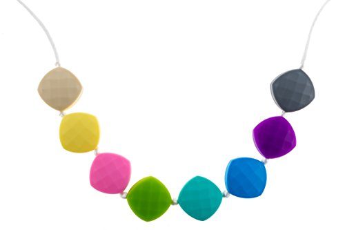Chew-Choos 'Sweet pea' Silicone Teething Necklace (Pastel...