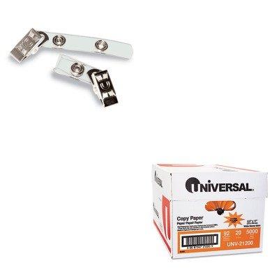 KITAVT75410UNV21200 - Value Kit - Advantus Badge Straps w/Clip (AVT75410) and Universal Copy Paper (UNV21200)