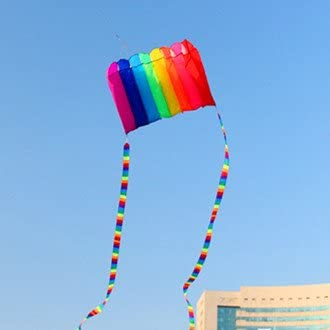 Its Big KENGEL Beautiful Large Easy Flyer Kite for Kids Tough Premium Quality Polyester Kite Material Perfect for Beach or Park Software Rainbow Parachute Kite