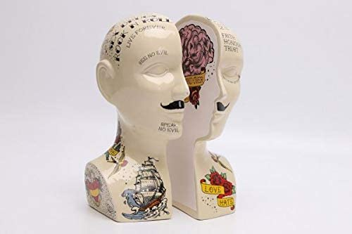 Ornament Phrenology Head Storage Jar Cream 6.5x17x5.5cm