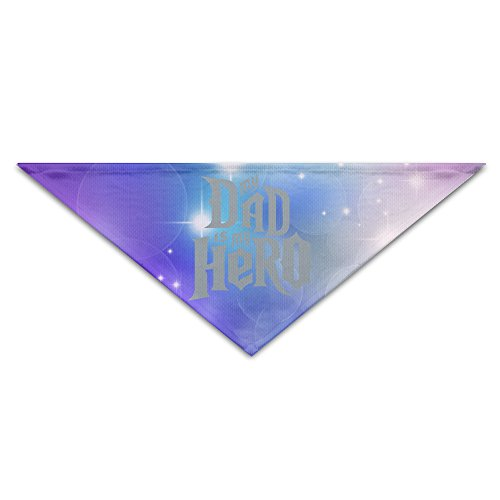 [Pet Bandanas - Personalized My Dad Is My Hero Pet Bandana Scarf - Triangle Scarf Collar Neckerchief For Dog] (Iron Man Cat Costume)