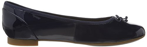 navy Donna Couture Bloom Clarks Patent Ballerine Blu gwT8cHq