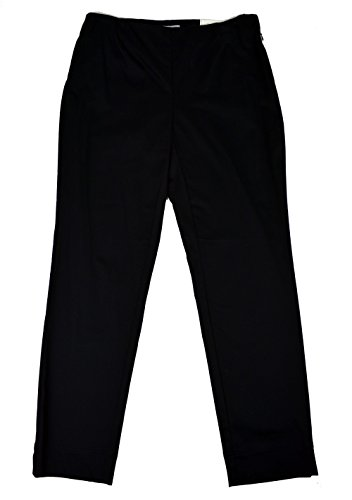 Sateen Side Zip Pants (Charter Club Women's Classic Fit Sateen Side-Zip Ankle Pants Deep Black Size)
