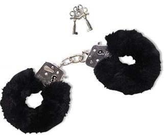 Orion 526134 Love Cuffs Black, Liebes-Handschellen abnehmbaren Plüschbezügen inkl. zwei Schlüsseln