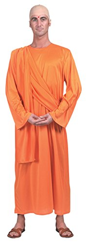 Bristol Novelty AC835 Hare Krishna Costume (UK Chest Size 42 - 44-Inch)