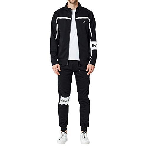 Men's Autumn Winter Letters Sweatshirt Top Pants Sets Sports Suit Tracksuit