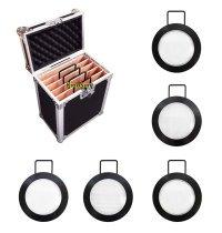 5 Lens Set 5-in-1 250mm Lenses & Flycase for 1200W HMI Par light Arrisun 12 M18