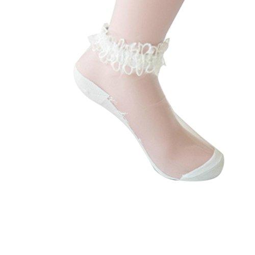 Livoty Fashion socks,Ultrathin Transparent Crystal Elastic Short Socks Women's Girl's Lady Lace Socks (Abs Silk Dresses)