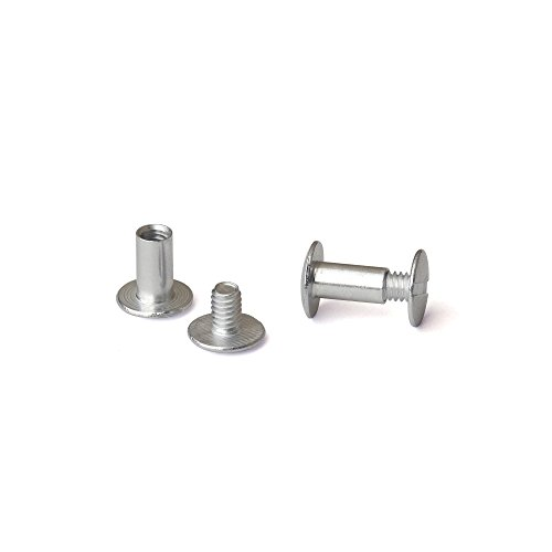 3/8 in. Aluminum Chicago Screws/Screw Posts (Qty 100 sets)
