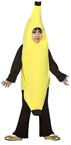 UHC Boy's Banana Outfit Comical Theme Fancy Dress Toddler Halloween Costume, Toddler (Banana Girl Costume Fancy Dress)