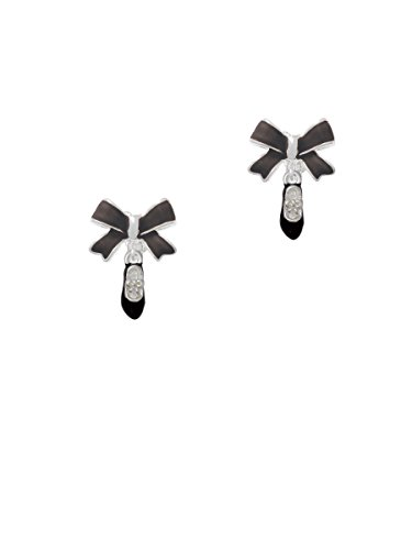 Mini Tap Shoes - Black Emma Bow Clip on Earrings (Ties For Tap Shoes compare prices)