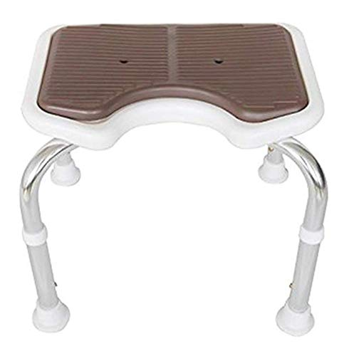 GT.S Shower Stool Bathroom Mobility Aid Shower Seat with Non Slip Rubber Feet,Height Adjustable Shower Stool 150kg Load Capacity -43.5x39x29cm from GT.S-Bathroom stool